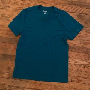 Sale! $3/15 Teal Blue V-Neck T-Shirt Mens Sz Small